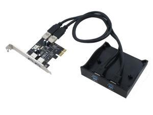"SEDNA- PCI Express USB 3.0 4 Port Adapter ( 2E2I ) with 3.5"" Front Panel"