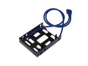 """SEDNA Floppy Bay Mounting Adapter for 2 x 2.5"""" HDD / SSD with 2 x USB 3.0 Port"""
