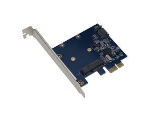 SEDNA - SEDNA - PCI Express mSATA III (6G) SSD Adapter with 1 SATA III port & Hybri Disk Software for HDD Acceleration