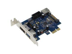 SEDNA - PCI Express 2 Port USB 3.0 + 1 Port PeSATA Adapter with Low Profile Bracket - ( NEC / Renesas uPD720202 chipset ) - SATA Power connector