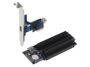 SEDNA - PCI-E 1x to dual 32 bit PCI slot riser card