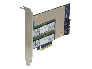 SEDNA - PCIe Dual M.2 SSD SATA 6G 4 Port Raid Adapter with HyperDuo Hard disk acceleration function with 2 x Samsung MZNTD128HAGM 128G M.2 SSD installed