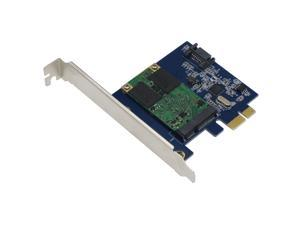 SEDNA - PCI Express mSATA III (6G) SSD Adapter with 1 SATA III port and 32G SAMSUNG mSATA SSD