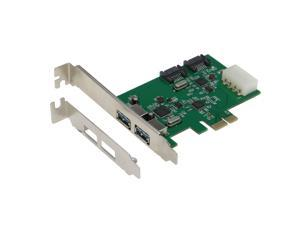 SEDNA - PCIE 2 Port USB 3.0 + 2 Port SATA 6G Combo Adpater with Low Profile Bracket