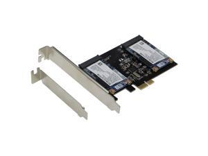 SEDNA PCI Express Dual mSATA III (6G) SSD Adapter with Low profile Bracket ( SSD not included )