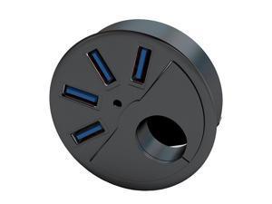 "SEDNA - USB 3.0  4 Port  - 2.5"" Grommet Hole - 2.5"" In Desk Hub/ USB Charger"