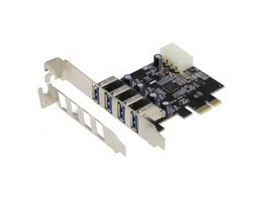 SEDNA PCI Express USB 3.0 4 Port Adapter (4E) - NEC / Renesas 720201 Chip Set with Low Profile Bracket
