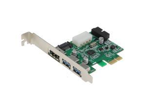SEDNA - PCI Express 4 Port USB 3.0 [ 2 External + 2 Port Internal ( 20 pin ) ] + 1 Port PeSATA Adapter ( NEC 720201 chipset )