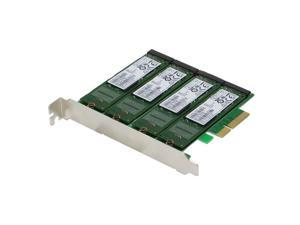 SEDNA - PCIe Quad M.2 SSD SATA 6G 4 Port Raid Adapter with HyoperDuo Hard disk acceleration function (SSD not included)