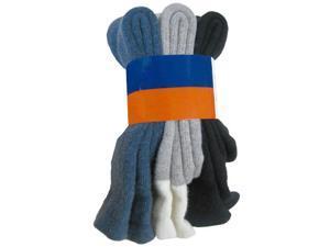 Men's 3 Pack Thermal Wool Socks Style 1261 C01- Black, Grey and Denim