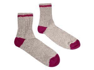 Women's Hiking Socks Style 1540-89 Natural Grey, Rose - Size 9 - 11