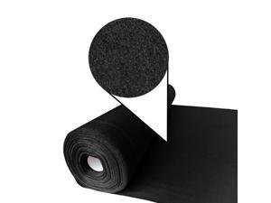 Designer Felt Solid Black 3MM Thick X 70.9IN Wide