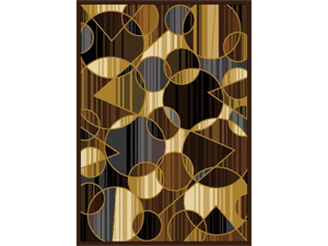 """Home Dynamix Area Rugs: Royalty Rug: 8100 Brown Gray 3'6""""x5'2"""
