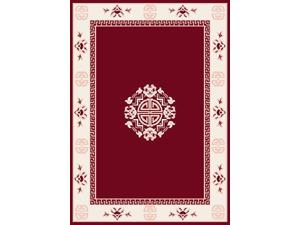 "Home Dynamix Area Rugs: Premium Rug: 7114: Red 5' 3""x7' 5"" Rectangle"