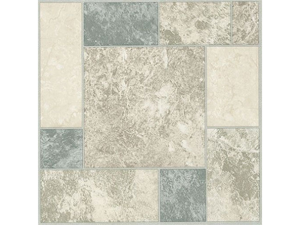 Creative Home: Nexus Vinyl Self Stick Tile: 327 Grey & White Marble: 1 Box 20 Tiles: Covers 20 Sq. Ft.
