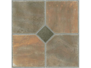 Creative Home: Nexus Vinyl Self Stick Tile: 326 Rustic Slate: 1 Box 20 Tiles: Covers 20 Sq. Ft.
