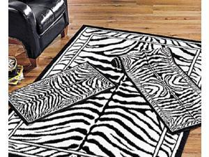 "Home Dynamix Area Rugs: Zone: 7160: Zebra Rug: 3 Piece Set - 2' x 3', 1' 10"" x 7' 3"", 5' 3"" x 7' 5"""