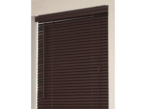 "Mini Window Blinds 1"" Slats Chocolate Venetian Vinyl Blind Actual Size: 23"" x 64"" (Length)"