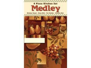 Home Dynamix Medley Four Piece Kitchen Set: Fruit Mix: 4 Piece Kitchen Set