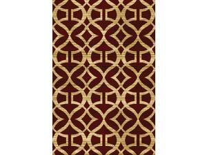 "Home Dynamix Area Rugs: Royalty Rugs: HD5396-200 Red: 5' 2"" x 7' 2"" Rectangle"