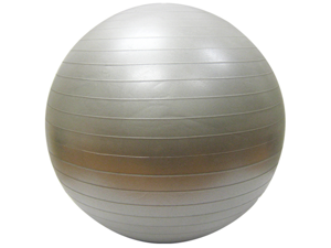 Burst Resistant Yoga/Exercise Balls with Pump - Charcoal, 65cm