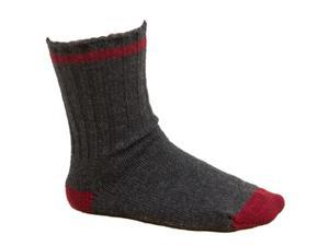 Men's Hiking Socks Dark Gray and Red - Size 10-13