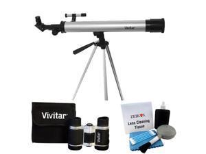 Vivitar Telescope With Tripod & 4X30 Binoculars Plus Deluxe Cleaning Kit