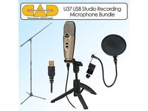 CAD Audio U37 USB Studio Recording Microphone With Stand Kit