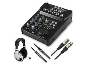 Alto Professional ZMX52 Zephyr 5 Channel 6 Input 2 Bus Mixer Bundle