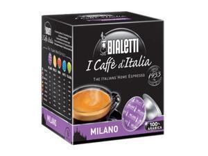 Bialetti 16819 Milano Caffe D'Italia Espresso, 16 Capsules