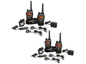 Midland GXT1000VP4 36-Mile 50-Channel FRS/GMRS Two-Way Radio Total of 4 Radios