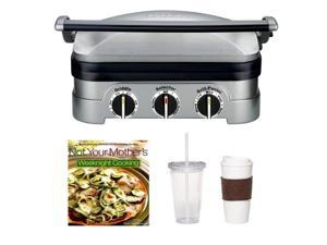 Cuisinart GR-4N Griddler Stainless Steel Grill/Griddle & Panini Press + Accessory Kit