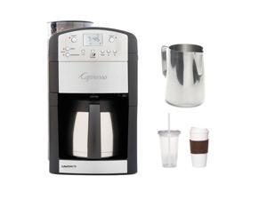 Capresso 465.05 Coffeeteam TS 10-cup Thermal Carafe Coffee Maker + New 20 oz Espresso Coffee Milk Frothing Pitcher + Accessory Kit