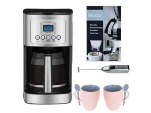 Cuisinart 14-Cup Programmable Coffeemaker Bundle with Knox 16oz Mug 2-Pack + Milk Frother and Descaler