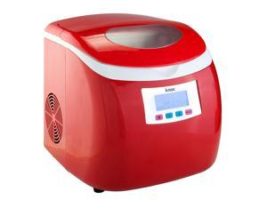 Knox Compact Ice maker (27 Lbs in 24 Hrs) - Red Color 3 Selectable Cube Sizes