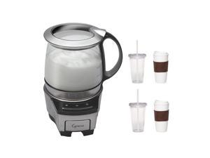 Capresso 206.05 froth TEC Automatic Milk Frother with 2-Pack Coffee Mug & Iced Beverage Cup