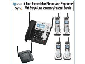 AT&T SB67118/SB6718 4-Line Corded-Cordless Phone System w/ 4 Phones & Repeater