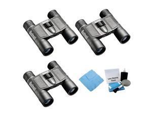 Bushnell 131225 Powerview 12X25mm Binocular (3-Pack) + Enhanced Lens Cleaning Kit + Accessory Kit