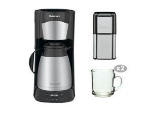 Cuisinart DTC975BKN DTC-975BKN 12 Cup Programable Thermal Coffeemaker with Grind Central Coffee Grinder & Two Handy Glass Coffee Mug