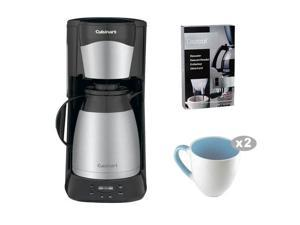 Cuisinart DTC-975BKN DTC975BKN 12 Cup Programable Thermal Coffeemaker(Black) with Cuisinart Grind Central Coffee Grinder and Handy Glass Coffee Mug