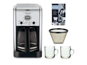 Cuisinart DCC-2650 Extreme Brew 12-Cup Programmable Coffeemaker + Cuisinart GTF Gold Tone Filter + Glass Coffee Mug 2-Pieces + Coffee/ Espresso Descaler