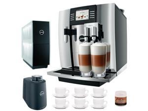 Jura Giga 5 13623 Cappuccino & Latte Macchiato System + Jura Cup Warmer Black Stainless Steel + Accessory Kit