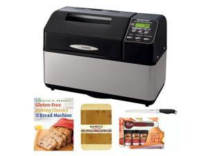 Zojirushi Home Bakery Supreme 2-Pound-Loaf Breadmaker + 8-inch x 12-inch Bamboo Cutting Board + Accessory Kit