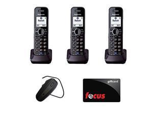 Panasonic KX-TGA950B Accessory 2 Line Handset For KX-TG954X (3) + Blue Planet Wireless Bluetooth Headset + Gift Card $10