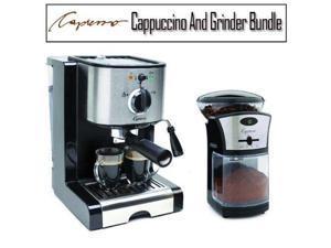 Capresso Pump Espresso Cappuccino Machine with Cuisinart Grinder