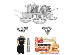 Cuisinart 77-11G Chef's Classic Stainless 11-Piece Cookware Set with Deluxe Accessory Kit