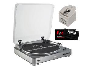 Audio Technica AT-LP60USB Fully Automatic Belt Driven Turntable w/ USB Port & Replacement Stylus