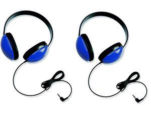 Califone 2800-BL Listening First Headphones for Classroom, Computer Labs (Blue) (Set of 2)