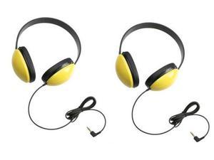 Califone 2800-YL Listening First Headphones in Yellow (Set of 2)