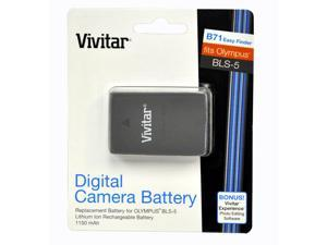 Vivitar Rechargeable Replacement Lithium Ion Battery for Olympus BLS-5